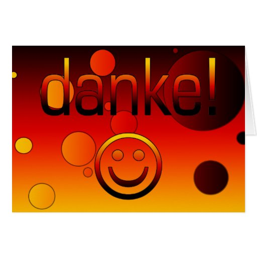 German Gifts : Thank You / Danke + Smiley Face Card