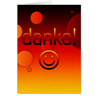 German Gifts : Thank You / Danke + Smiley Face Note Card
