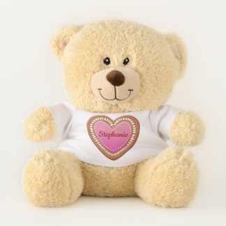 German Gingerbread Heart Teddy Bear