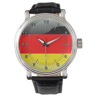 German glossy flag wristwatch