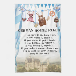 German House Rules Kitchen Cloth