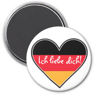 German - I love you 7.5 Cm Round Magnet