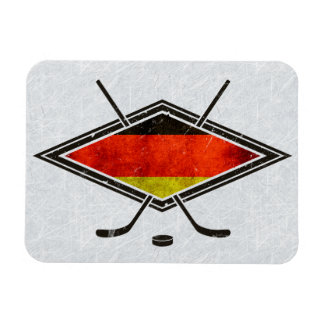 German Ice Hockey Flag Magnet