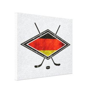 German Ice Hockey Flag Print