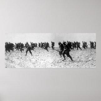 German Infantry Assault Poster