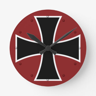 German Iron Cross Round Clock