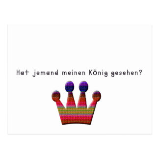 German -King Postcard