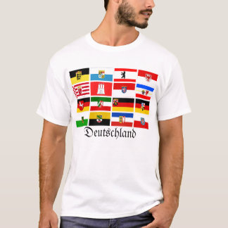 German Laender State Flags Deutschland T-Shirt