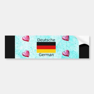 German Language And Flag Design Bumper Sticker