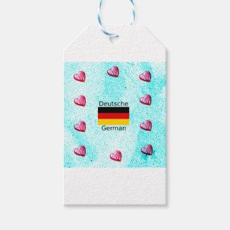 German Language And Flag Design Gift Tags