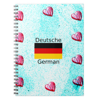 German Language And Flag Design Notebook