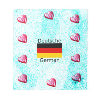 German Language And Flag Design Notepad