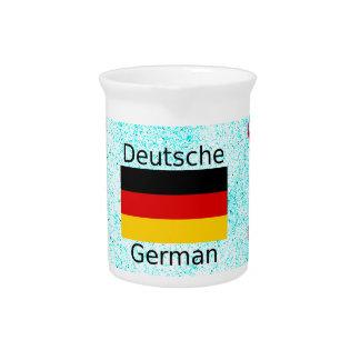 German Language And Flag Design Pitcher