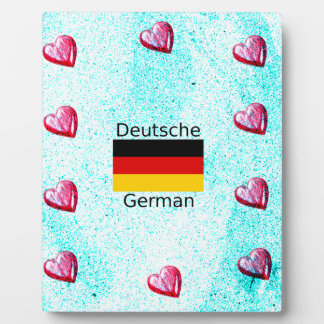 German Language And Flag Design Plaque