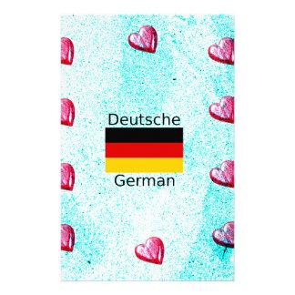 German Language And Flag Design Stationery