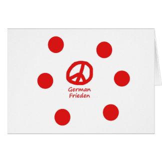 German Language And Peace Symbol Design Card