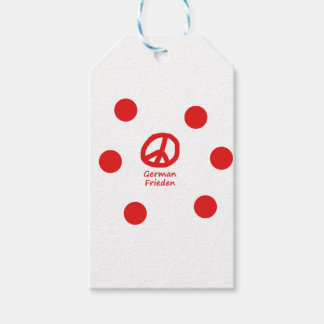 German Language And Peace Symbol Design Gift Tags