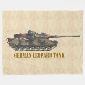 GERMAN LEOPARD TANK FLEECE BLANKET
