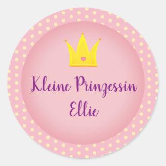 "German ""Little Princess"" Sticker with Crown"