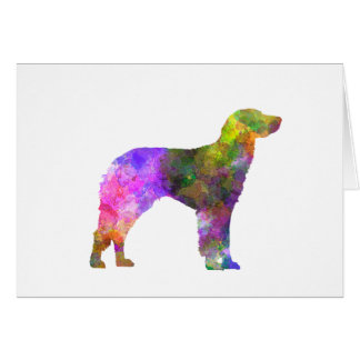 German Longhaired Pointer in watercolor Card