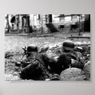 German Machine Gun Nest Poster