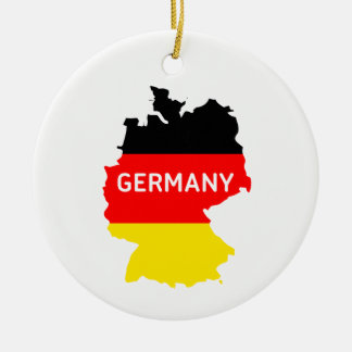 German Map and Flag Ornament