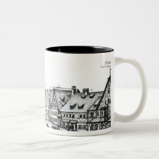 German Market town, 1704 Two-Tone Coffee Mug