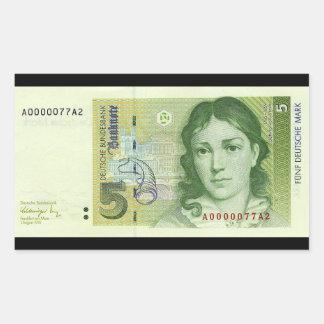 German Marks Rectangular Sticker