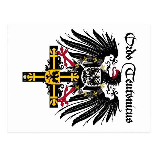 German medal emperor eagle postcard