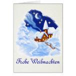 German Merry Christmas Greeting Card