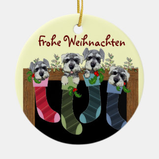 German Merry Christmas Ornament