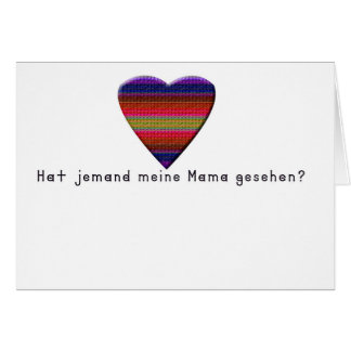 German -Mommy Card