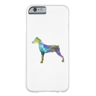 German Pinscher 01 in watercolor Barely There iPhone 6 Case