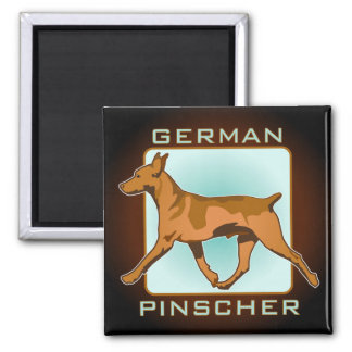 German Pinscher Badge, square Magnet