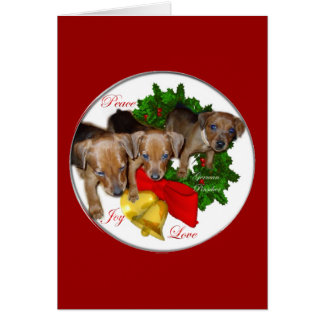 German Pinscher Christmas Gifts Card