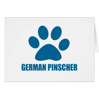 GERMAN PINSCHER DOG DESIGNS CARD
