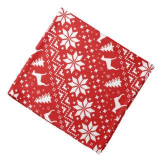 German Pinscher Silhouettes Christmas Pattern Red Bandana