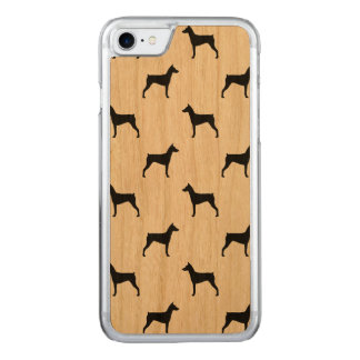 German Pinscher Silhouettes Pattern Carved iPhone 8/7 Case