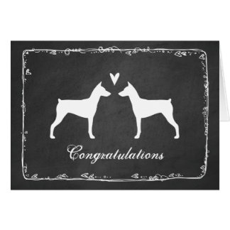 German Pinschers Wedding Congratulations Card