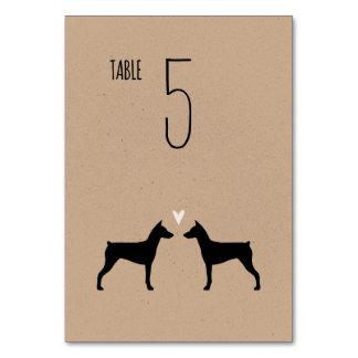 German Pinschers Wedding Table Card