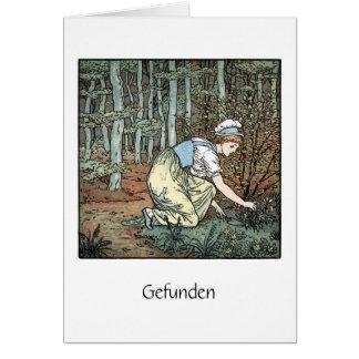 """German Poem """"Gefunden"""" Card"""