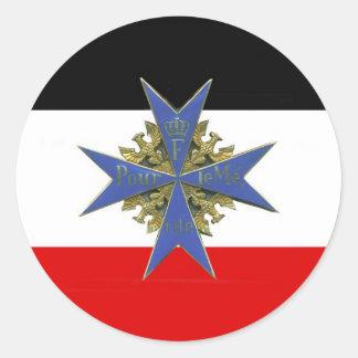 German Pour Le Merit Medal Classic Round Sticker