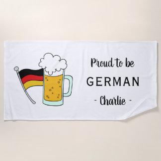 German Pride / Octoberfest custom text beach towel