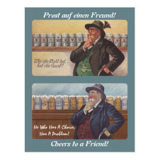 German Proverb Postcrossing Friend Toast Postcard