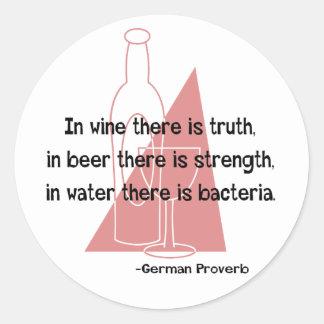 German Proverb -retro Round Sticker