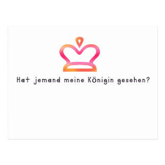 German -Queen Postcard