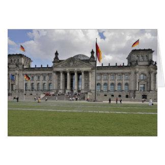 German Reichstag building Card