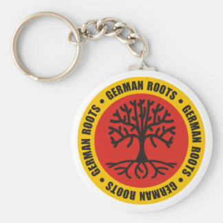 German Roots Basic Round Button Key Ring
