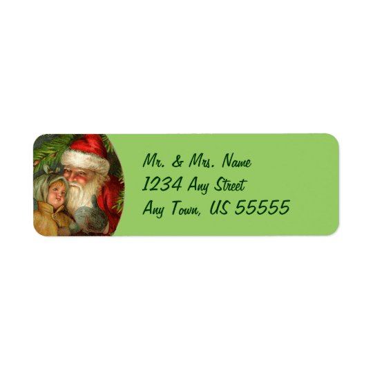 German Santa Claus Address Labels