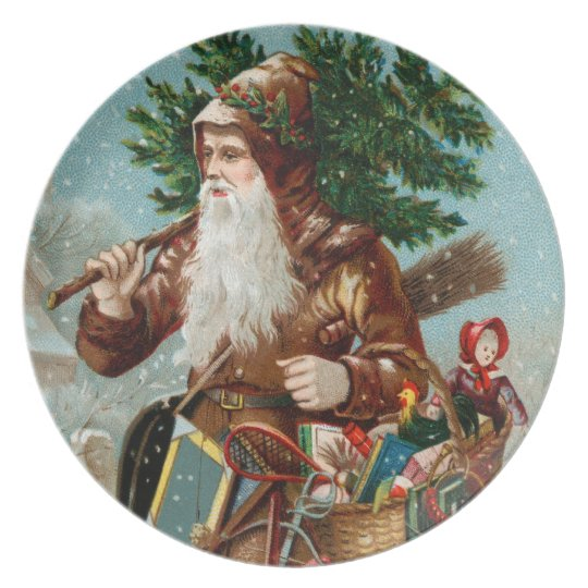 German Santa Plate
